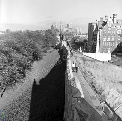 York Minster and City Walls, 1969